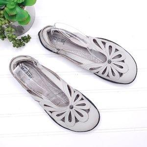 Jambu Blush Barefoot Women's Grey Ballet Flats 8M